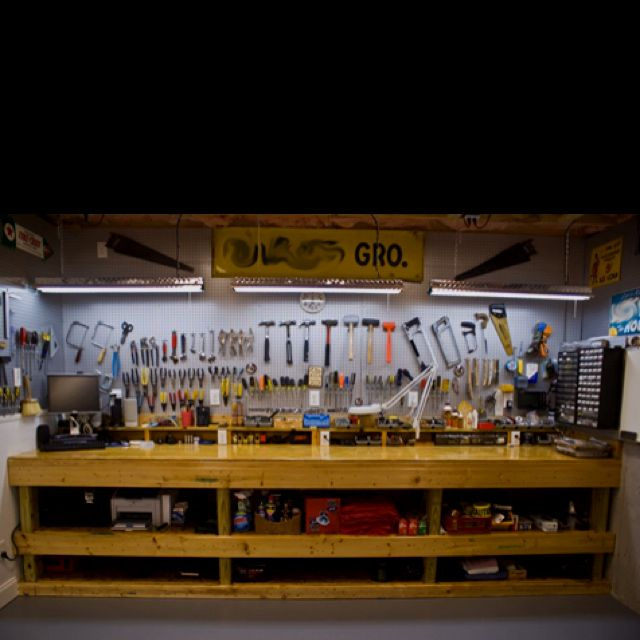 Pin By Greg Brunko On Workbench Home Workshop Basement Workshop Home Tools