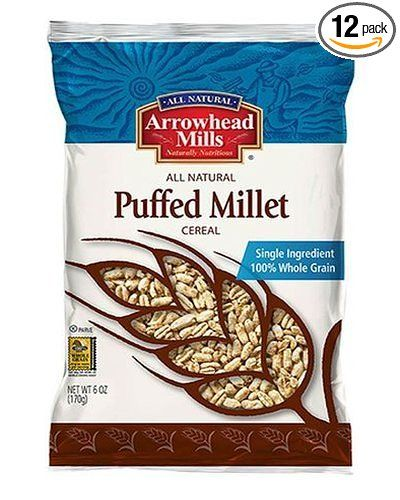 Arrowhead Mills Cereal, Puffed Millet, 6 Ounce (Pack Of 12