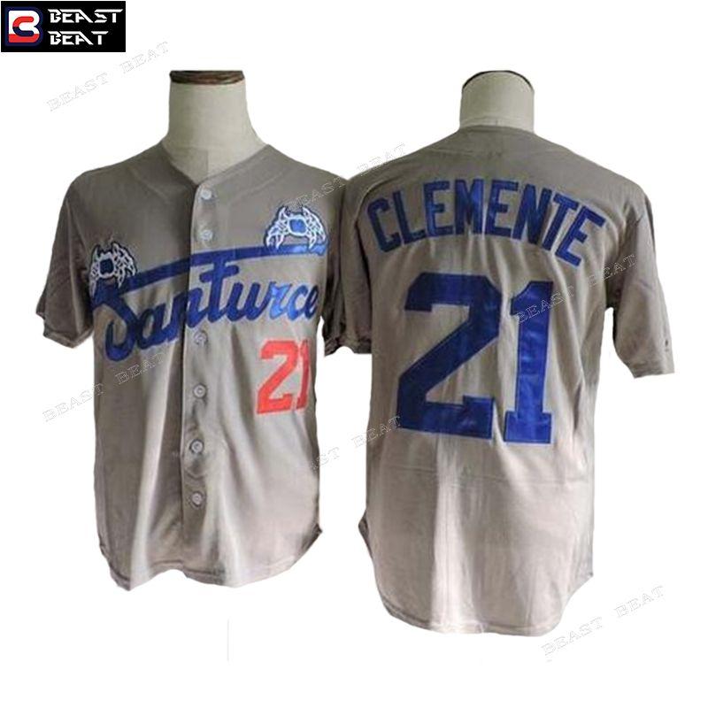 reputable site 5f197 2c706 Roberto Clemente Baseball Jersey #21 Santurce Crabbers ...