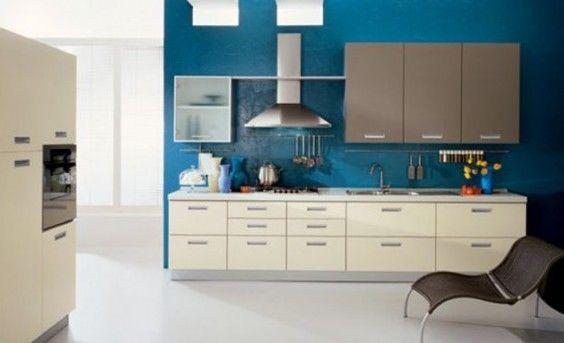 küche-wandfarbe-blau-e1421316719693jpg (564×343) blue Pinterest - kche wandfarben