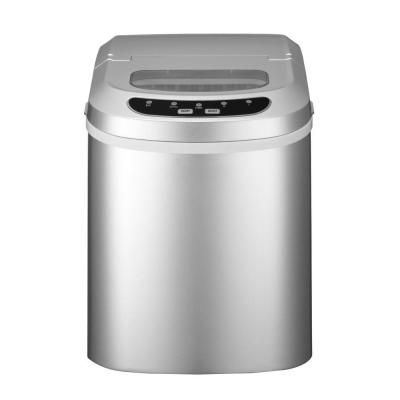 Magic Chef 27 Lb Portable Countertop Ice Maker In Silver Hnim27sv