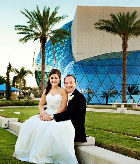 Laura And Ross Salvador Dali Museum St Petersburg Fl With Images Wedding Designer Engagement Rings Engagement