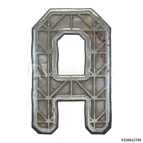 Industrial metal alphabet letter A on white background 3d , #Affiliate, #alphabet, #metal, #Industrial, #background, #white #Ad