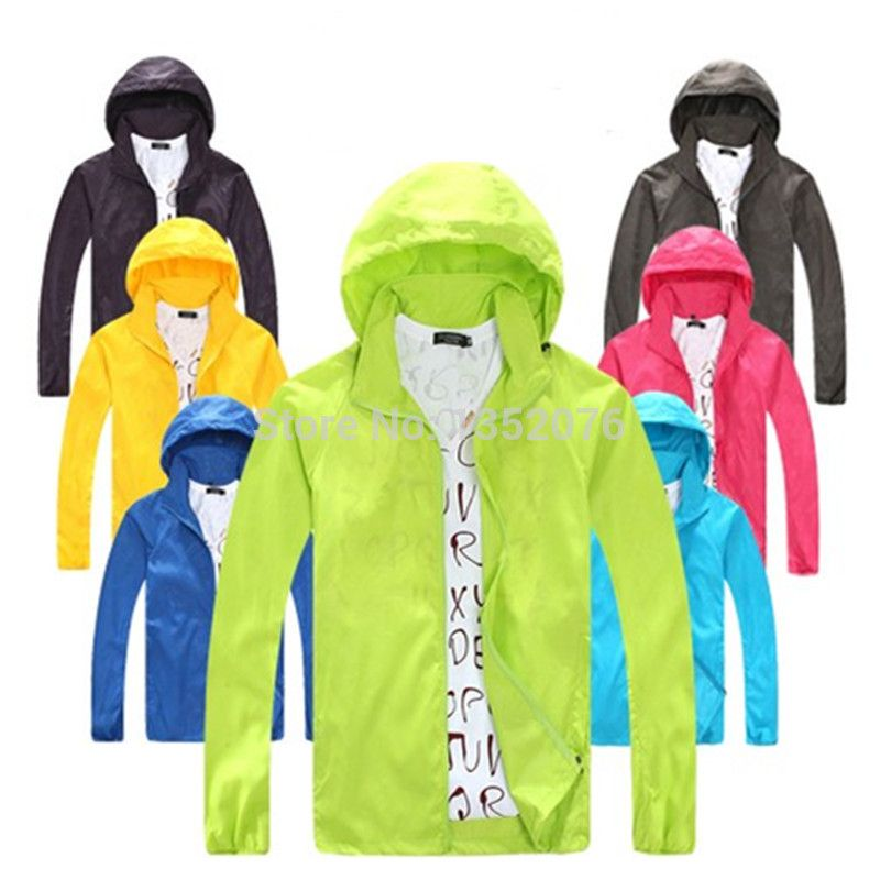 Spring Summer Outdoor Sport Thin Jacket Windbreaker Waterproof Sun ...