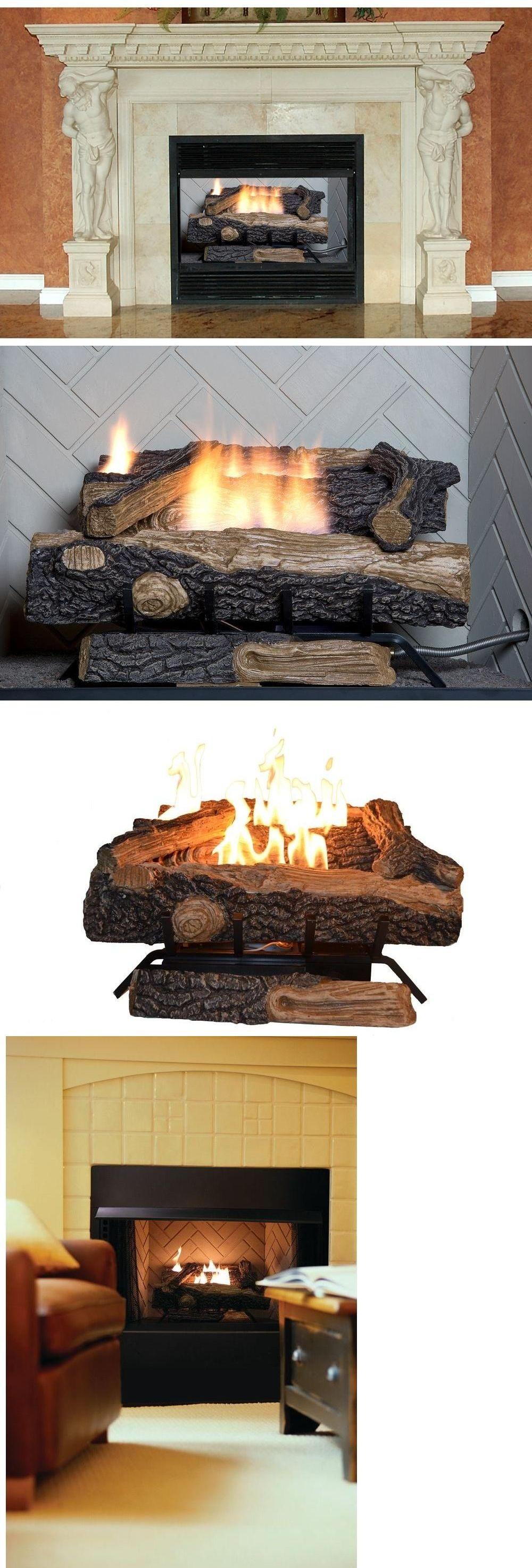 decorative logs stone and glass 38220 oakwood vent free propane gas