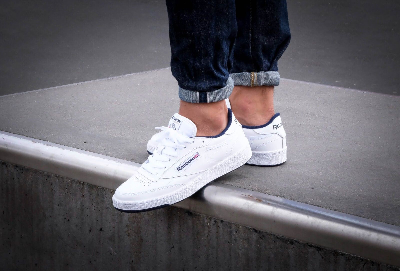 92a5f09d8a5 Reebok Club C 85 White Navy - AR0457