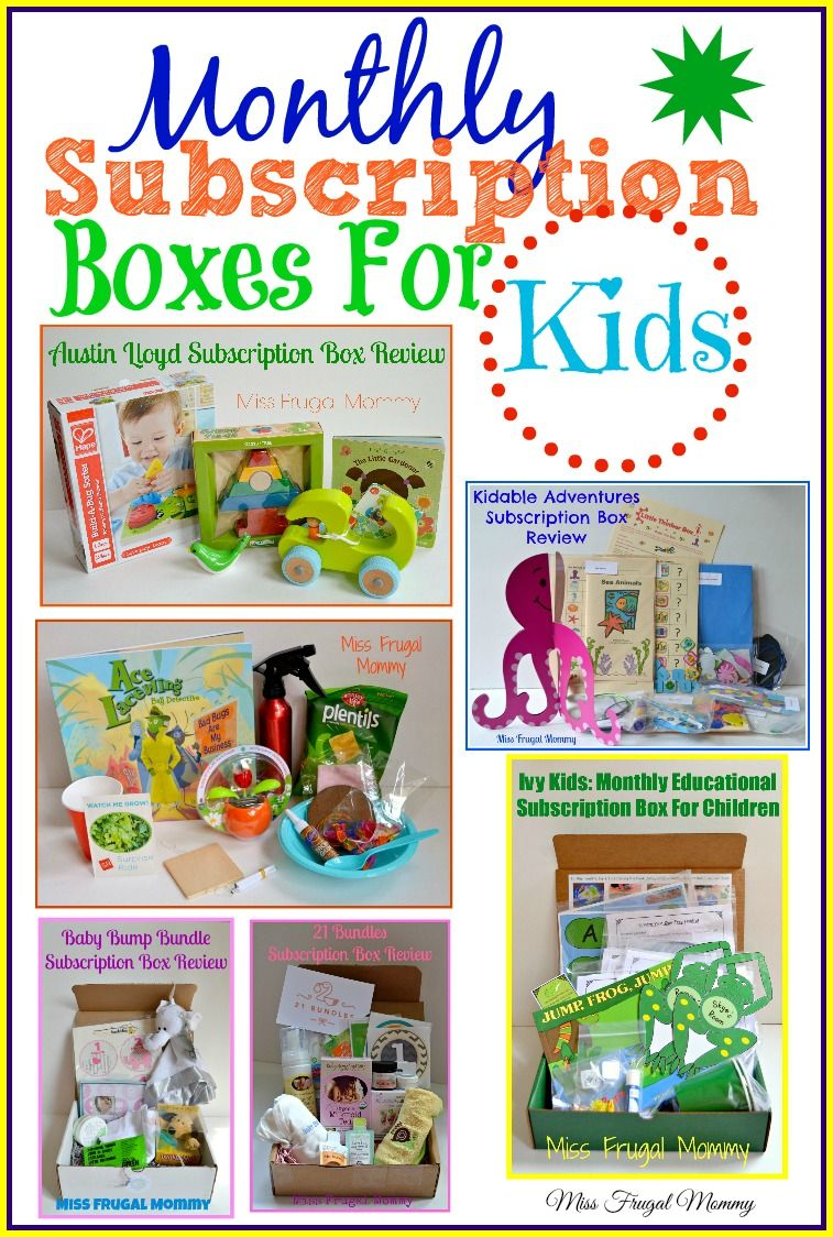 Must Have Monthly Subscription Boxes For Kids