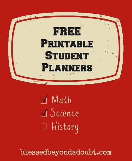 Free Printable Student Planners For Back To School | Student