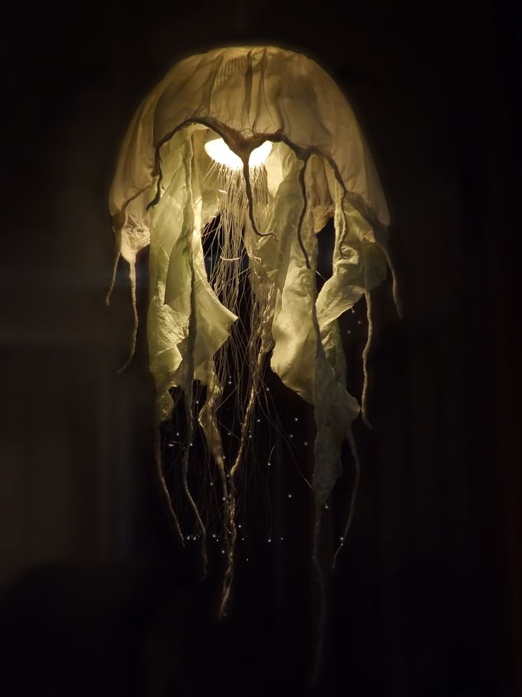 DIY Fiber Optic Jellyfish Chandelier | Diy chandelier ...