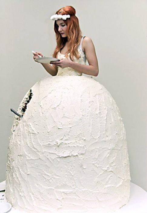 Checkered cake dress