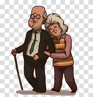 Old Age Happy Old Couple Transparent Background Png Clipart Cute Old Couples Old Couples Old People Cartoon
