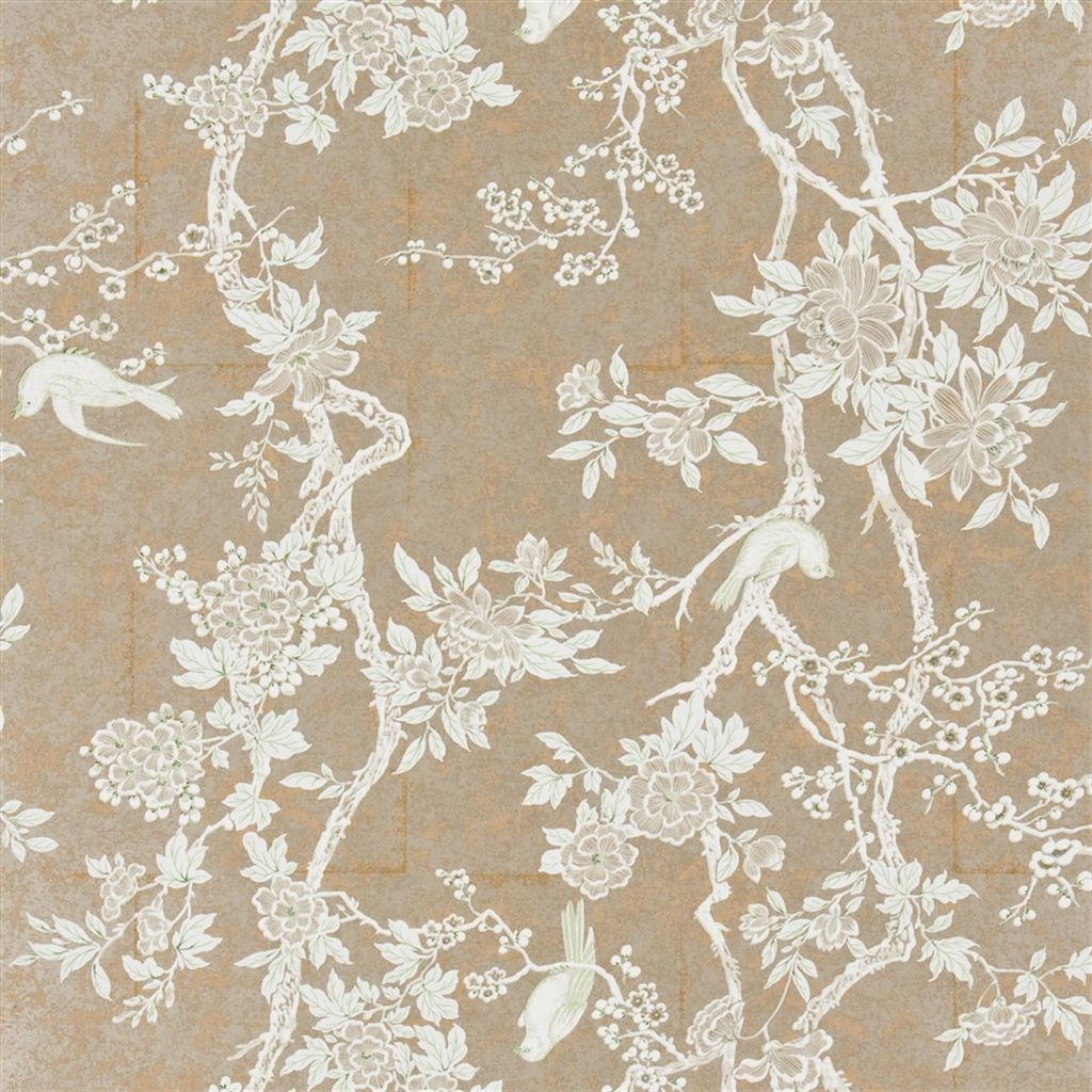 From Designers Guild Marlowe Floral Sterling Wallpaper