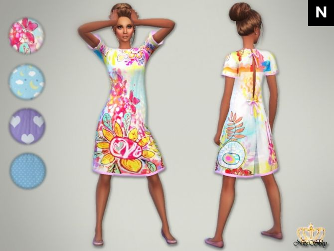 GTW ep. hospital gown re-colors at NiteSkky Sims via Sims 4 Updates ...