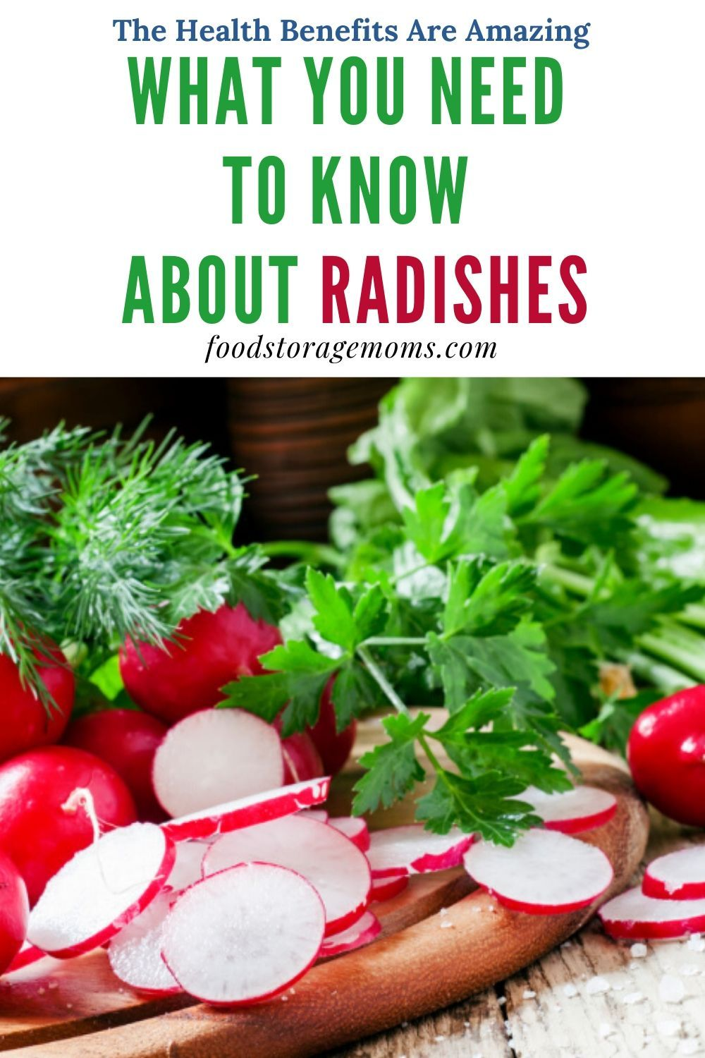 Radishes are an edible root vegetable that is part of the