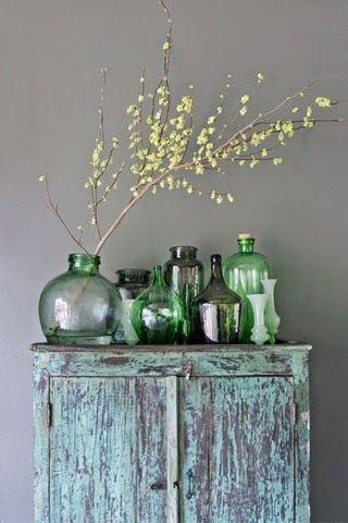 caractériELLE Les Dames Jeannes bouquets Pinterest Bouteille - Idee Deco Maison De Campagne