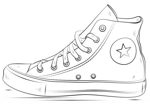 Converse Colores - AZ Dibujos para colorear | lily education | Pinterest |  Converse, Drawings and Drawing ideas