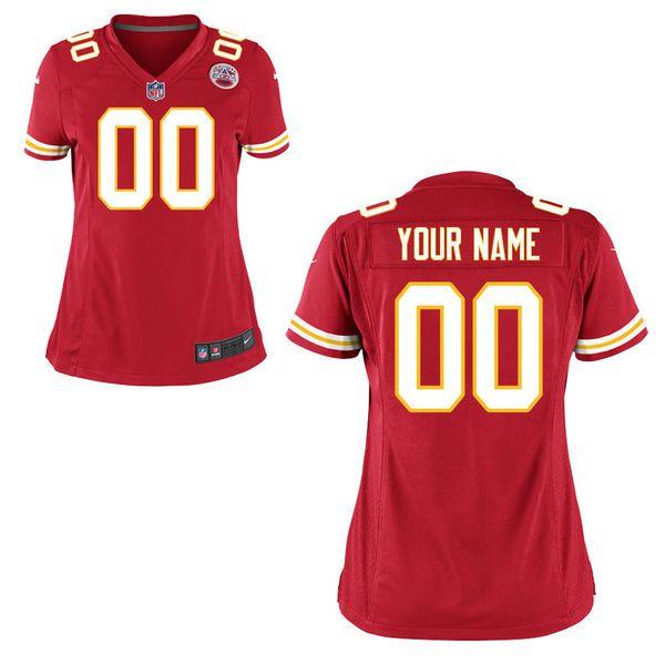 Women's Kansas City Chiefs Nike Red Custom Game Jersey | Monday