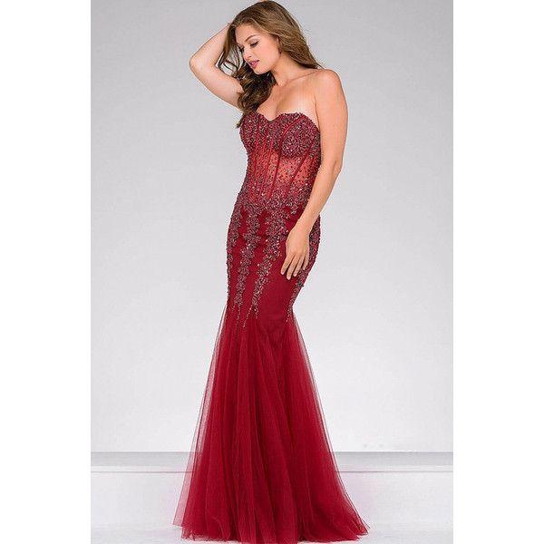 Jovani Long Strapless Sweetheart Mermaid Bodice Prom Dress 5908 ...