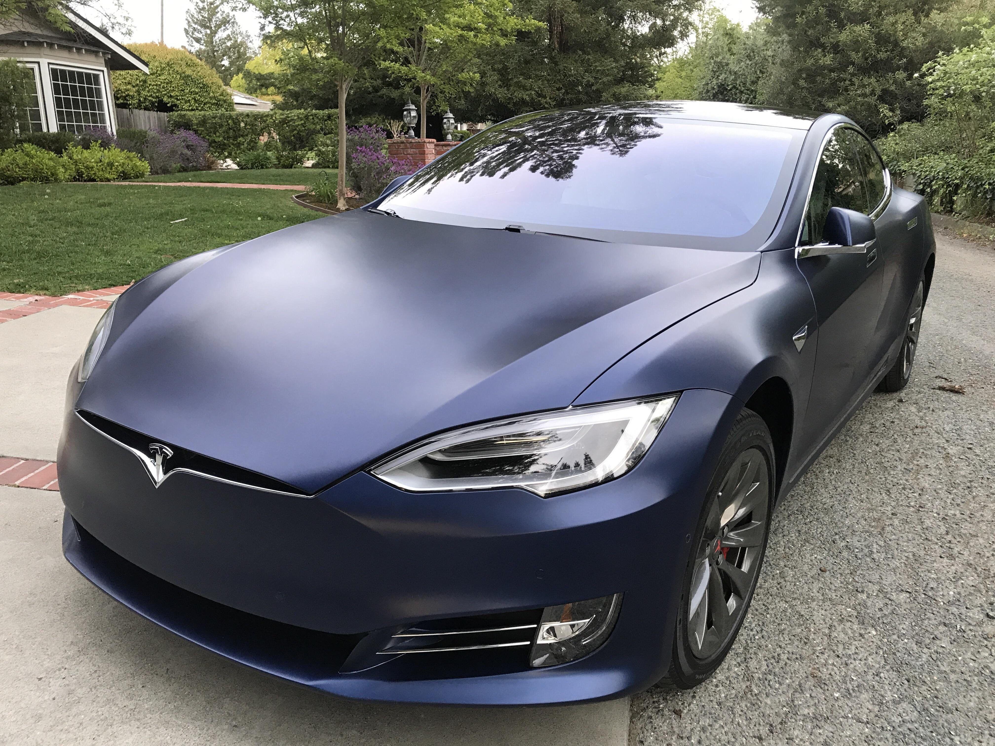 Matte Blue Car >> Matte Blue Tesla Model S Electric Cars Tesla Roadster