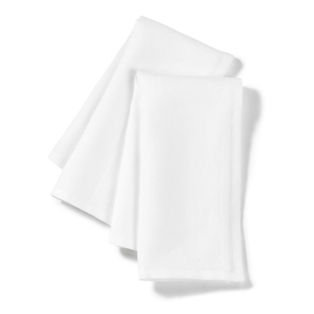 These Simply Designed 100 Linen Napkins Which Come In Pure White Or Off White Oyster Have A Way Of Elevating Every Meal Sold Individually 100 Linen 19 Quot