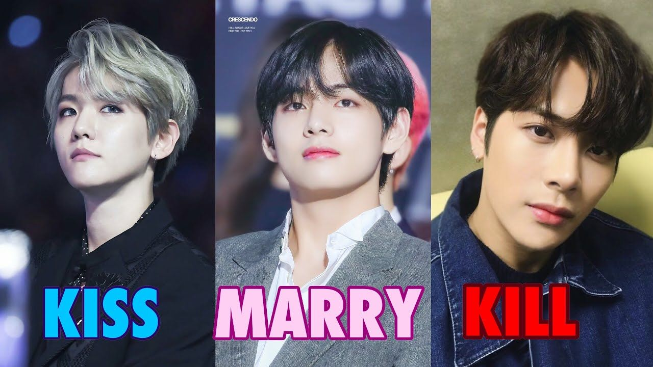 Kiss Marry Kill Kpop Male Idols Edition Kpop Kiss Married Artist Album