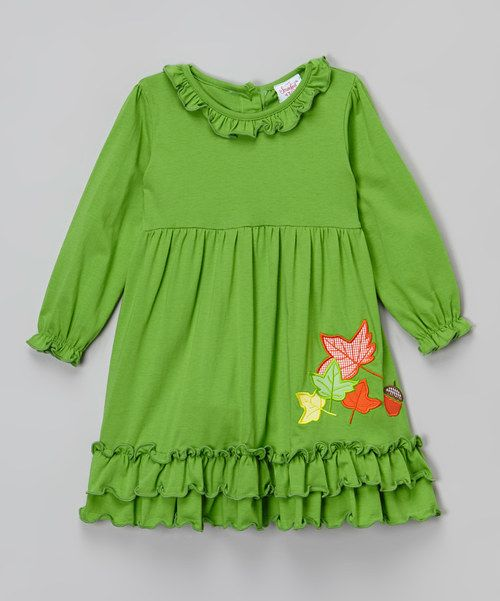 Look at this Smocked or Not Green Autumn Leaves Dress - Infant & Toddler on #zulily today!