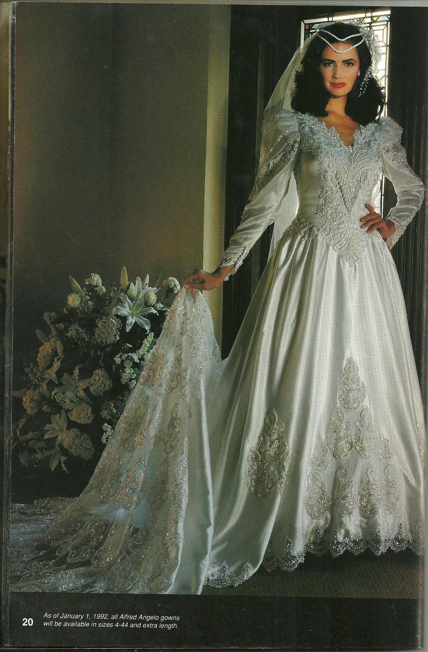 Alfred Angelo Dream Maker Spring Of 1992 1980s Wedding Bridal Vintage