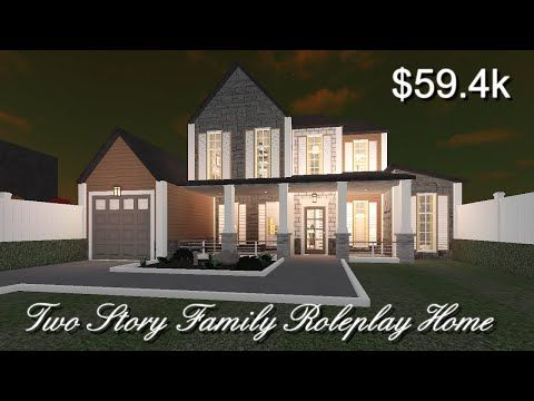 Roblox Bloxburg Two Story Family Roleplay House Home Building Design Cute House House
