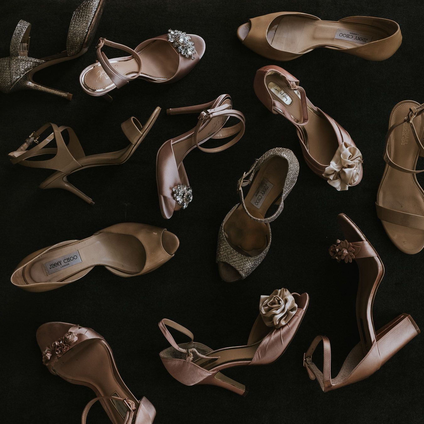 Blush And Pink Bridesmaids Shoes For Wedding PHOTOGRAPHY