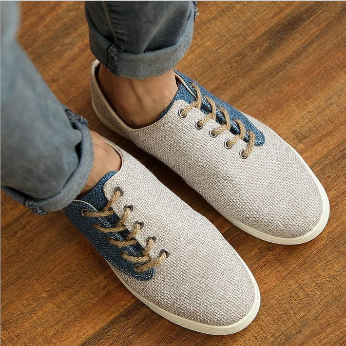brand new 478b6 176c0 Cheap 2015 nuevo de la llegada hombre de moda Casual empalme transpirable  zapatos del cáñamo ocasional masculinas Comfortabele verano desgaste zapatos  ...