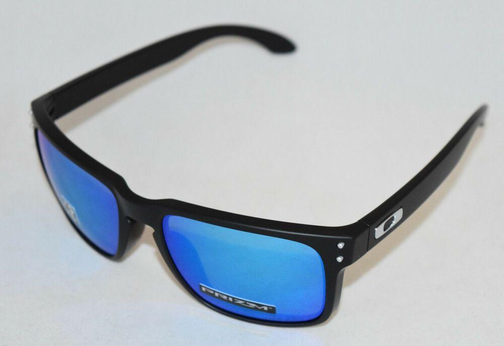 701c06547e1 eBay  Sponsored NEW OAKLEY HOLBROOK OO9102-F055 MATTE BLACK W  PRIZM  SAPPHIRE POLARIZED