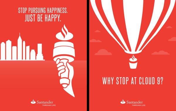 Santander Posters Santander Bank Santander Just Be Happy