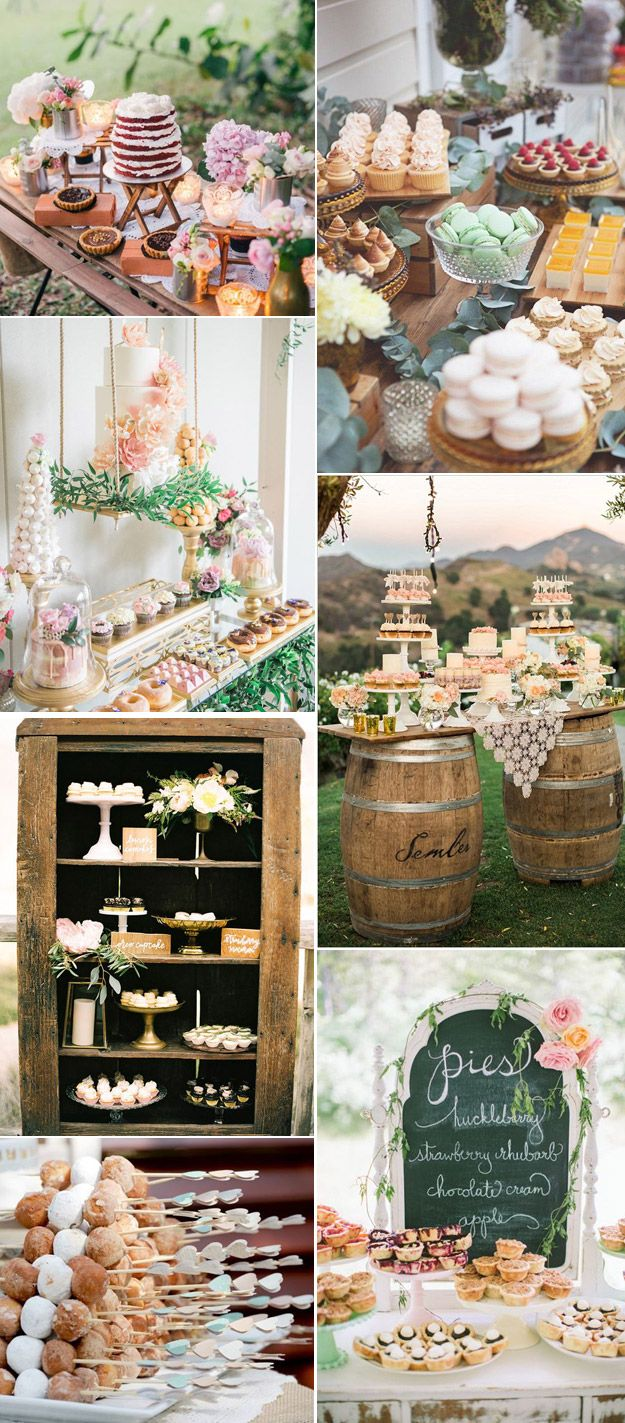 Wedding decorations using wine bottles october 2018 Delectable Dessert Display Ideas for Your Wedding  BuE Lucky In