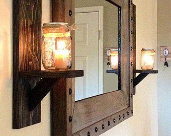 Lighted Mason Jar Sconce, Mason Jar Wall Decor, Ma