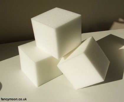 Foam Blocks Bricks For Craft 10cm X 10cm X 10cm