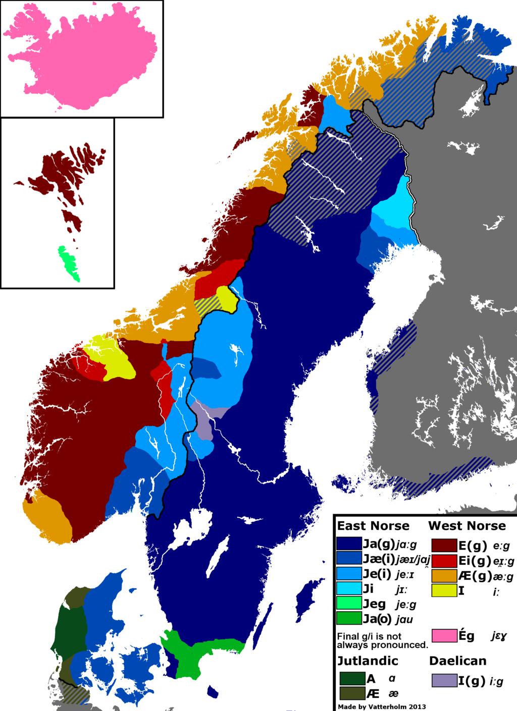 The Scandinavian Pronoun I Language Map Infographic Map Map