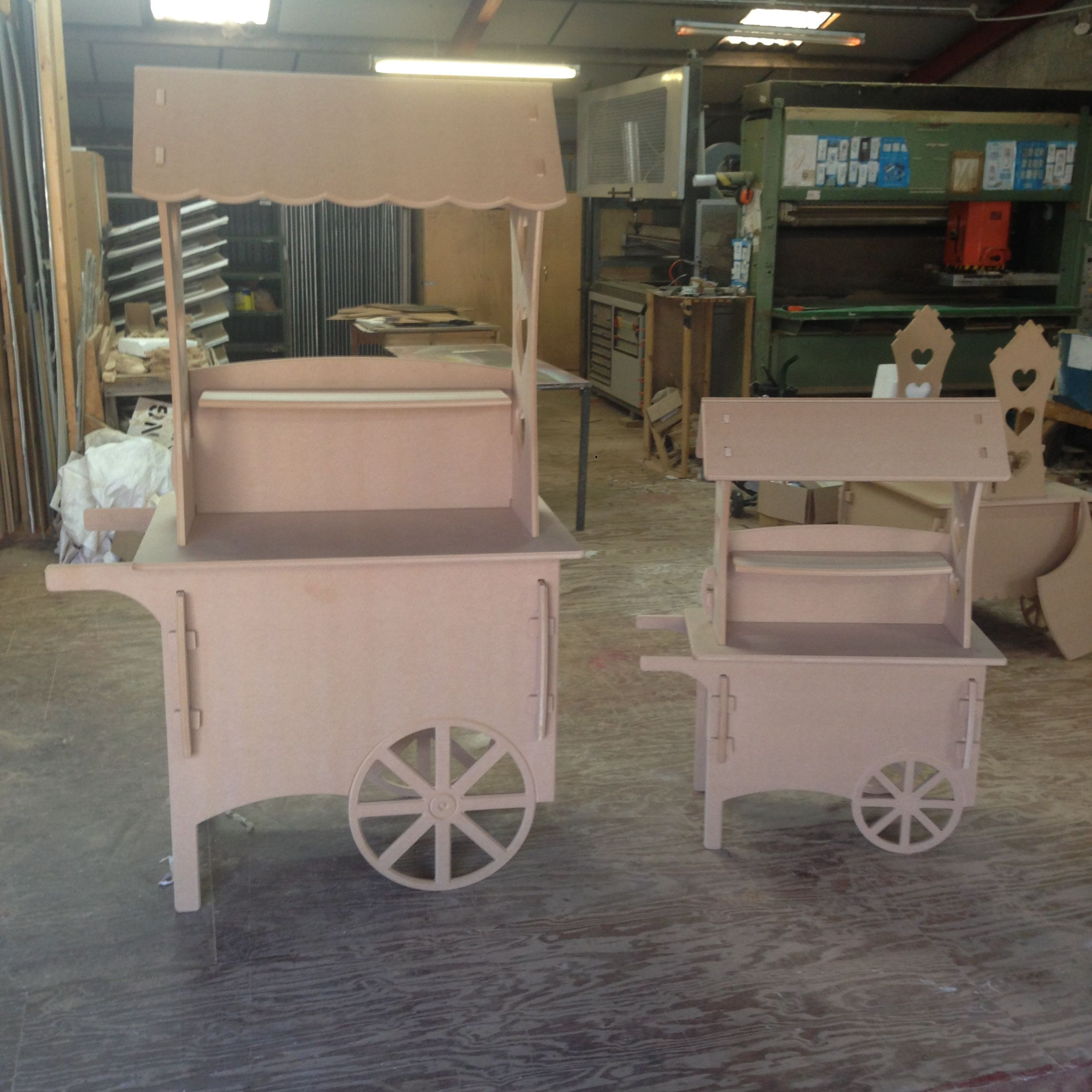Wooden Candy Carts Medium Size 1200mm 4ft Large Size 1800mm 6ft