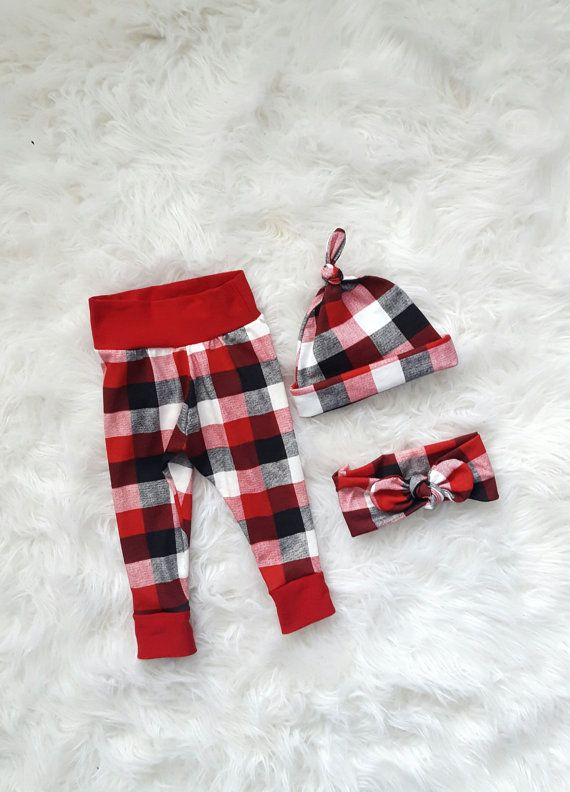 6d19f1083b896 Red, Black & white Buffalo Plaid Baby Leggings, Baby pants, boy Leggings, Girl  Leggings, Baby Gift, Christmas, Take Home Outfit, Hospital ETSY SHOP ...