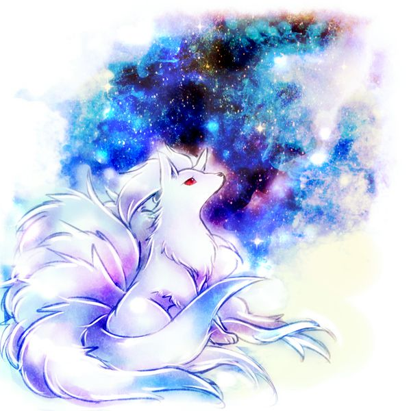 Tags: Anime, Fox, Pokémon, Alternate Color, Ninetales, No People, Multiple Tails