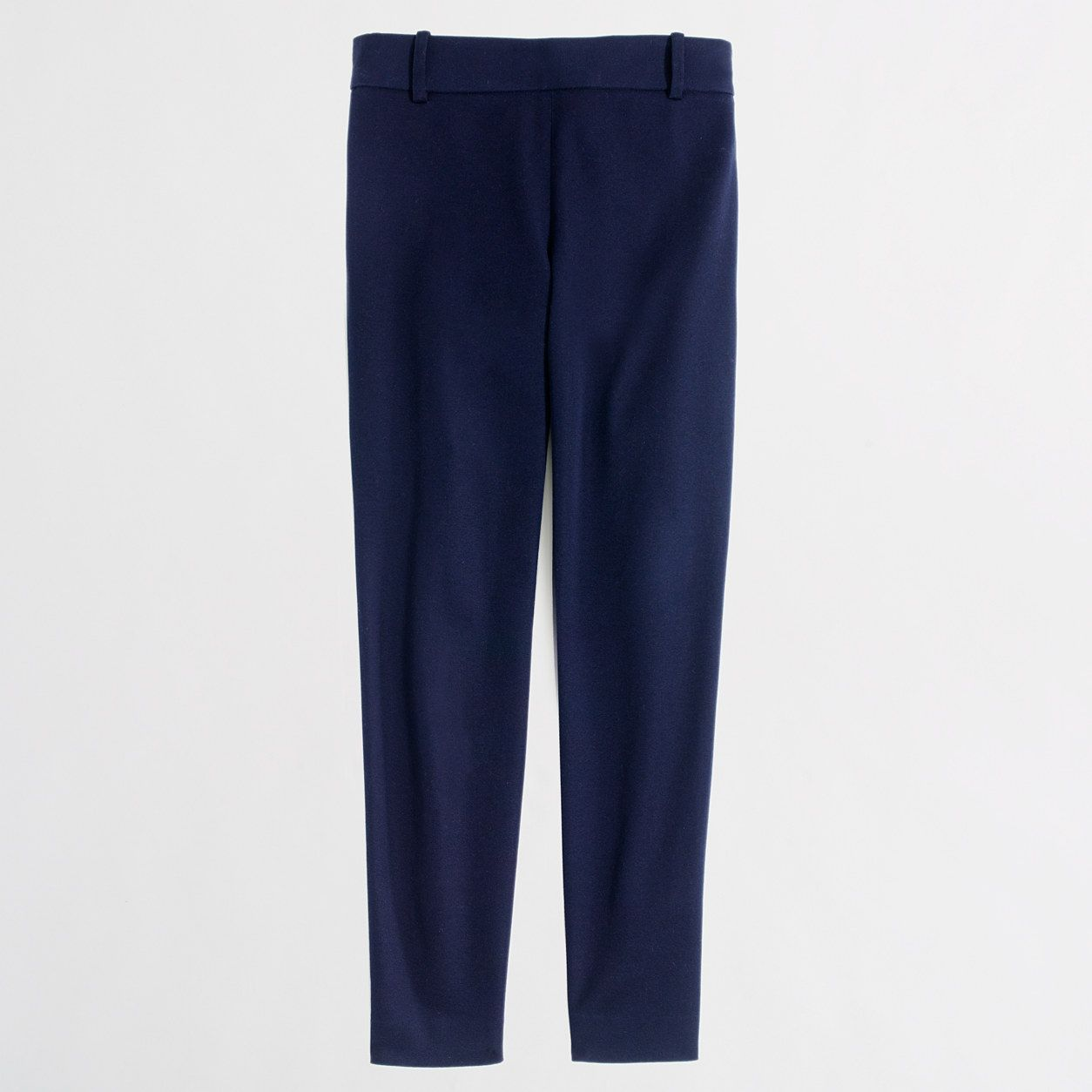 Factory petite Winnie pant in stretch twill : Petites | J.Crew Factory. Navy and Black. 0