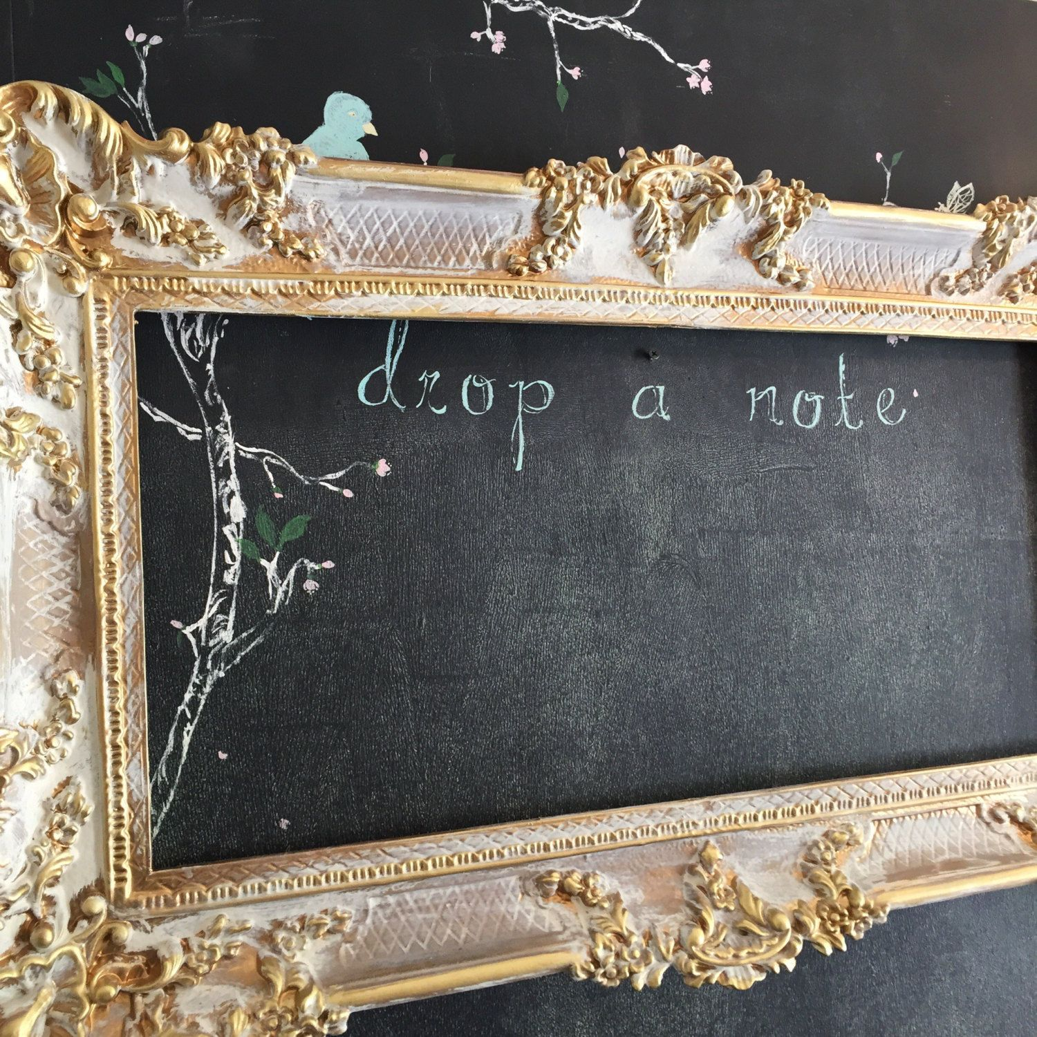 Gold Baroque Wedding Chalkboard Ornate Menu Board Shabby Chic Large