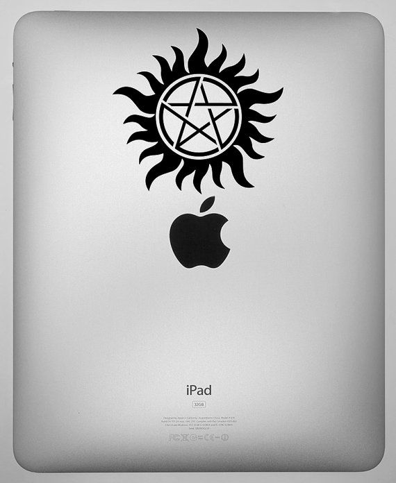 WINCHESTER BROTHERS ANTI POSSESSION SYMBOL VINYL STICKER SUPERNATURAL
