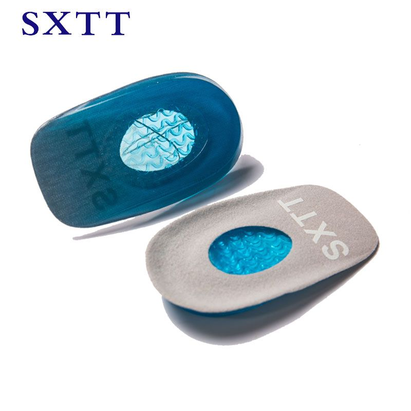 Silicone Gel Insoles Heel Pad Foot Care Cups Calcaneal Spur Care Orthotics