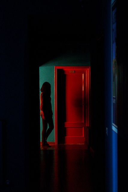 The Red Door | Neon Photography | Dark photography ...