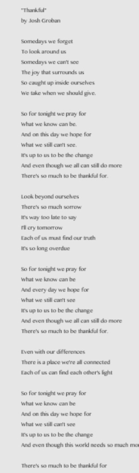 Lyric polar express lyrics : Thankful