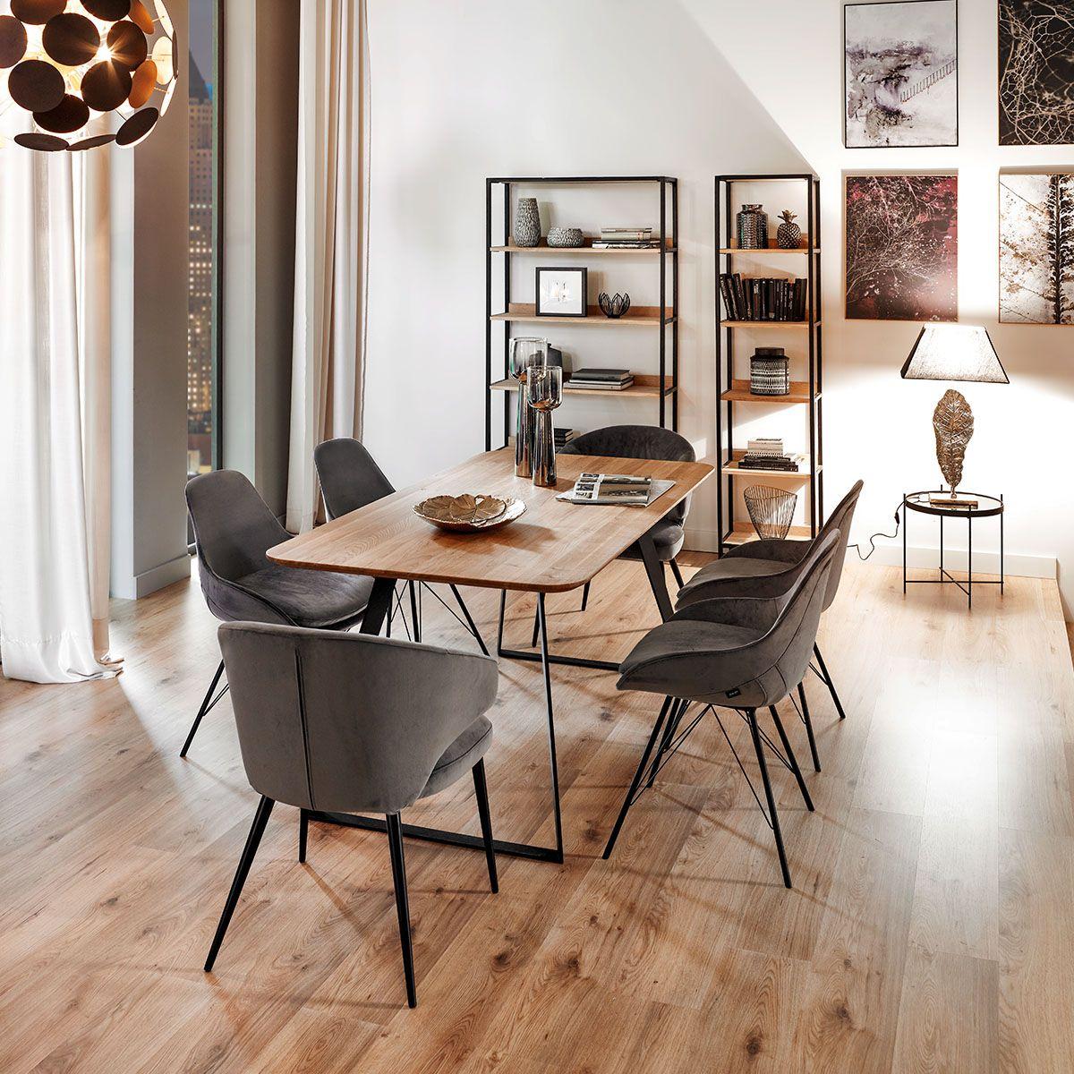 Stuhl In Textil Graphitfarben Schwarz In 2020 Stuhle
