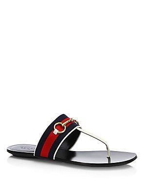 14e15a060 Gucci Querelle Web Thong Sandals