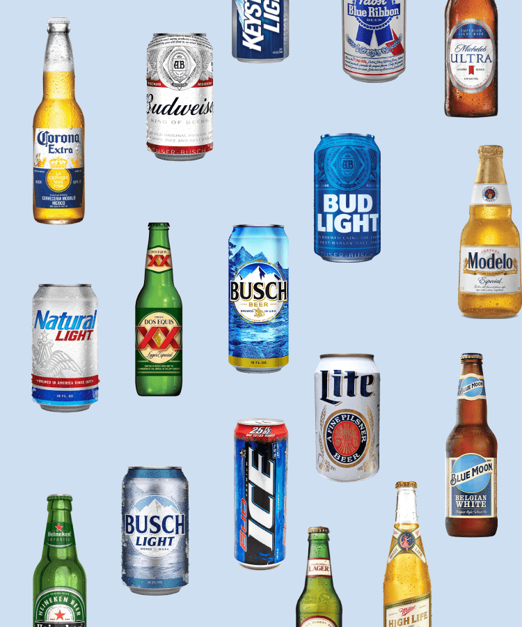 A Guide To The Calories Carbs And Abv In America S Best Selling Beers Chart Beer Chart Light Beer Calories Beer Calories