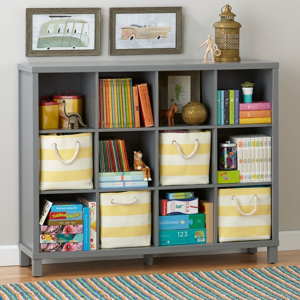 Simple Gray Cubic Bookshelves For Kids | Bookcase for Kids Room ...