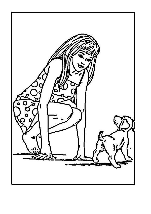barbie 10 ausmalbilder für kinder malvorlagen zum